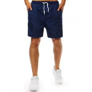 Tmavě modré pánské plavky boxerky s regulovatelnou šňůrkou