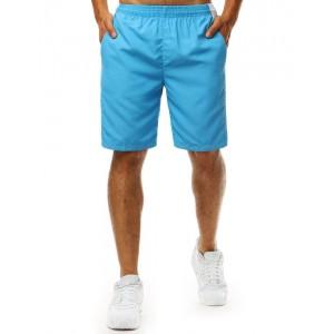 Trendy letní světle modré pánské plavky s designem šortek