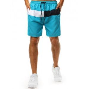 Trendy pánské plavky pro muže v módní tyrkysové barvě
