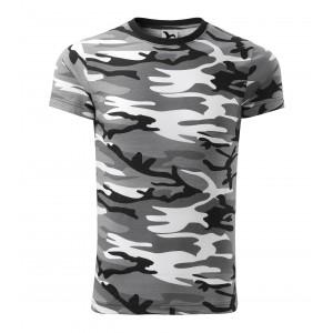 Pánské army tričko v šedé barvě
