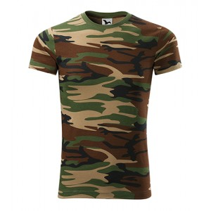 Pánské zelené tričko v army motivu