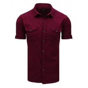 Stylová pánská bordó košile na volný den s detailním propracováním
