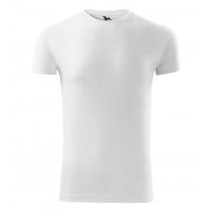 Bílé pánské bavlněné tričko s krátkým rukávem