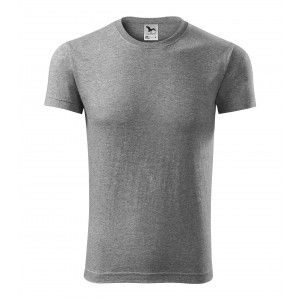 Bavlněné pánské trička v šedé barvě