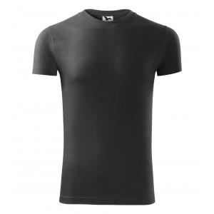 Tmavé pánské tričko s krátkým rukávem