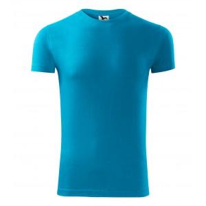 Tyrkysové pánské tričko s krátkým rukávem