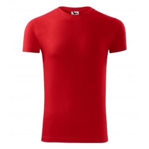 Pánské triko v červené barvě s krátkým rukávem