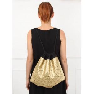 Dívčí batoh ve zlaté barvě
