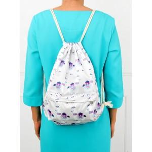 Vzorovaný batoh na záda v bílé barvě