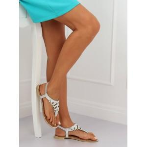Stříbrné dámské letní sandály