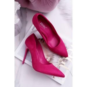 Lodičky v růžové barvě na vysokém podpatku