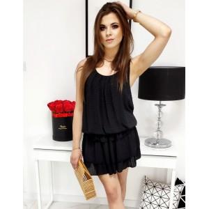 Dámské letní šaty černé barvy s podšívkou