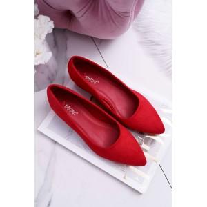 Levné dámské lodičky v červené barvě
