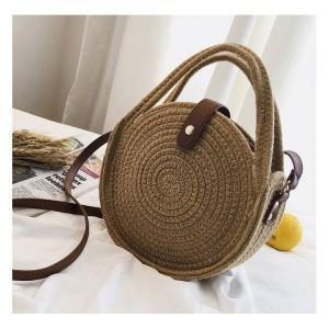 Dámská pletená kabelka se zapínáním na přezku