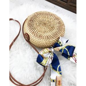 Dámská pletená kabelka se stužkou