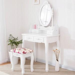 Toaletní stolek s úložným prostorem na šperky a kosmetiku