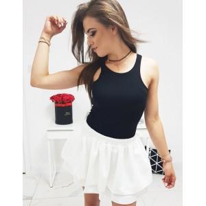 Originální dámské jednobarevné černé tričko boxerské