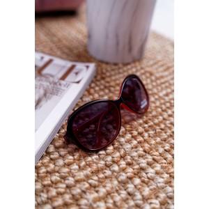 Imidžové dámské veliké sluneční brýle červeno černé barvy