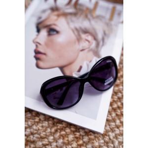 Originální černo zelené dámské sluneční brýle v módním designu