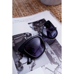Velké dámské černé kočičí sluneční brýle