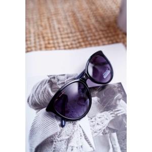 Originální dámské sluneční brýle modro černé s módní ručkou