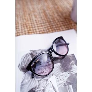 Imidžové černé dámské transparetní brýle s ozdobnou ručkou