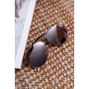 Stylové černo šedé dámské sluneční brýle pilotky