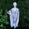 Vzorované dámské pareo v modré barvě