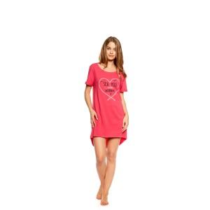 Romantická růžová noční košile v růžové barvě
