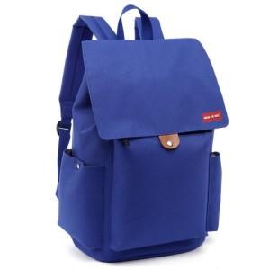 Moderní dámský batoh do školy v modré barvě