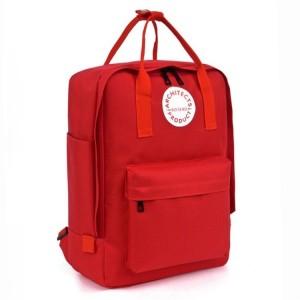 Trendy batoh do školy v červené barvě