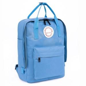 Školní batoh v modré barvě na záda