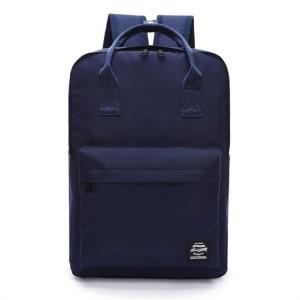 Levný školní batoh v modré barvě na ramena