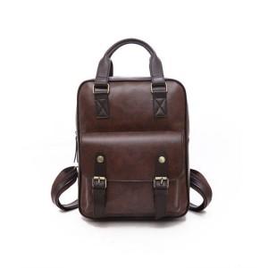 Kožený dámský batoh v hnědé barvě