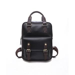 Černý batoh na záda z kůže