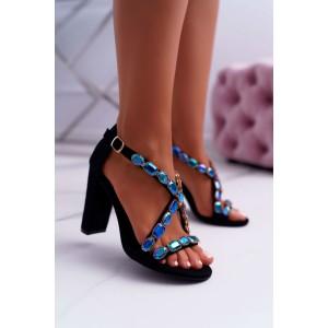 Elegantní černé dámské sandály