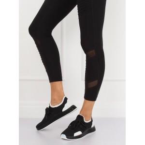 Černé dámské látkové boty
