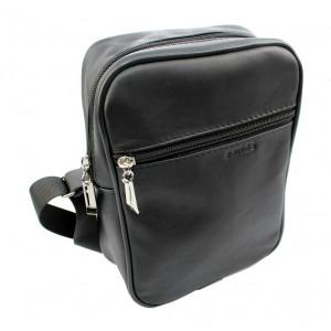 Kožená pánská taška přes rameno v černé barvě