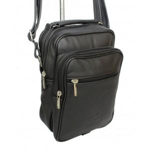 Stylová pánská kabelka v černé barvě na rameno