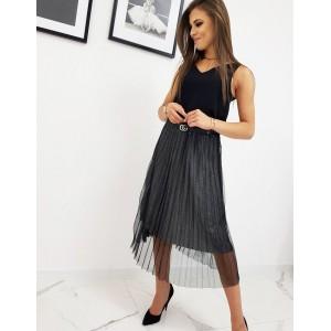 Dvouvrstvá dámská sukně v černé barvě