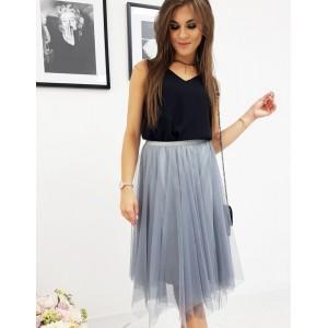 Stylová dámská modrá sukně
