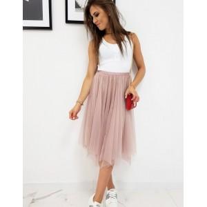 Dvouvrstvá dámská sukně v růžové barvě