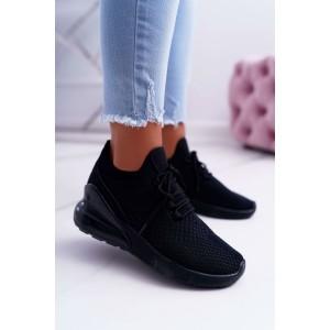 Dámské černé tenisky na platformě