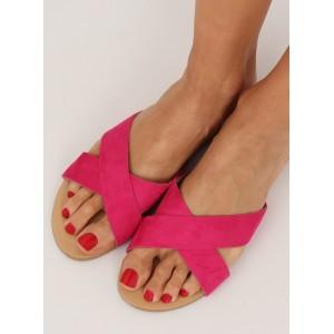 Pohodlné dámské pantofle v růžové barvě