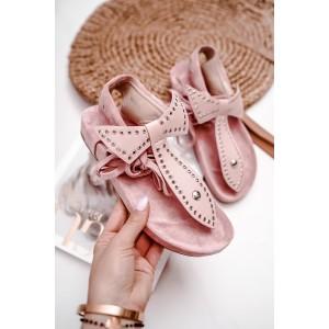 Elegantní dámské růžové sandály