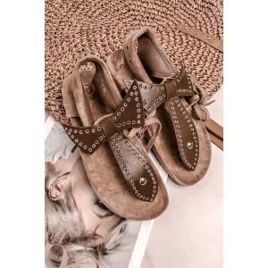 Hnědé dámské sandály na platformě