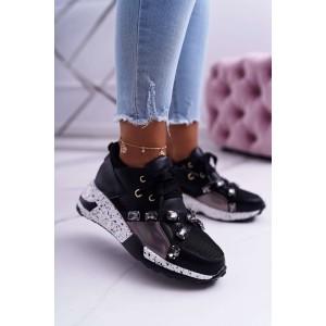 Trendové dámské tenisky černé barvy