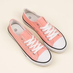 Letní dámské tenisky pudrově růžové barvy