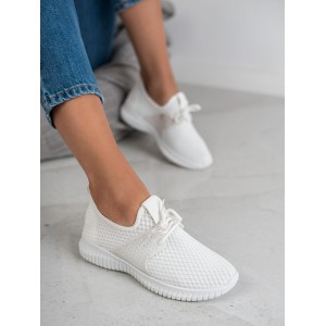 Dámské bílé látkové boty