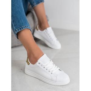 Moderní dámské tenisky v bílé barvě
